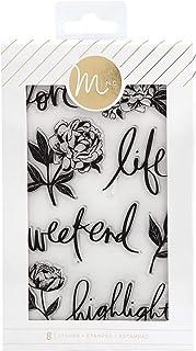 Heidi Swapp 314624 Stamp Mink-Clear-Floral (8 Piece)