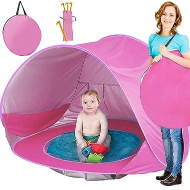 TURNMEON Baby Beach Tent, Pop Up Portable Sun