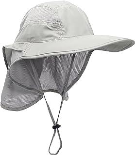 comprar comparacion Unisex Gorra de Safari con Extra Largo Protector de Nuca 12cm Gran Borde para Actividades al Aire Libre Sol Protección UV