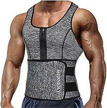 NinNn Heren Zweet Sauna Vest Taille Trainer Body Shaper Neopreen Tank Top Compressie Shirt Workout Fitness Terug Ondersteu...
