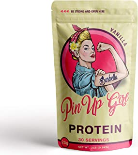 Pin Up Girl Protein Whey Isolate Powder – 25 Grams of Protein Per Serving – Vanilla – Low Calorie, Fat Free, Sugar Free, Zero Carb – for Women (30 Servings)