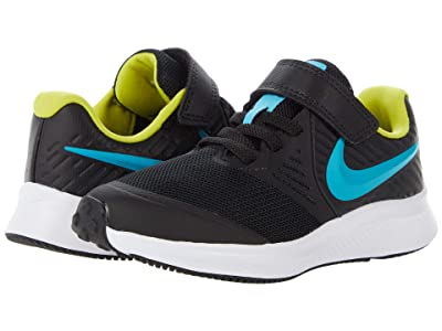 Nike Kids Star Runner 2 (Little Kid) (Black/Chlorine Blue/High Voltage/White) Kids Shoes