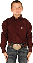Cinch Boys' Big Long Sleeve Printe D Shirt
