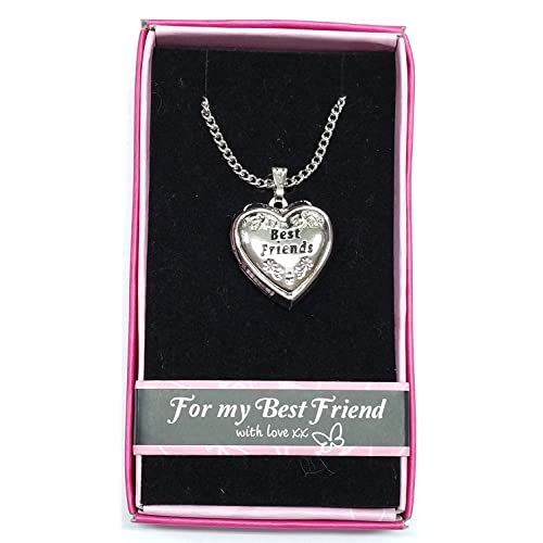 Best Friends Love Locket Gift Boxed Pendant Birthday Christmas Any Occasion