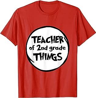 Teacher of 2nd Grade Things Funny Educator Tshirt