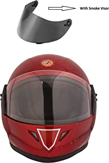 STARVIN RHHYN@X FULL FACE HELMET || RED COLOR || Medium Size || ISI APPROVED || WITH HYDROGRAPHICS || Unbreakable PC Smoke Visor with Double Layer Silicon Hardcore Coating || Scratch Resistant || MODEL- JETTY