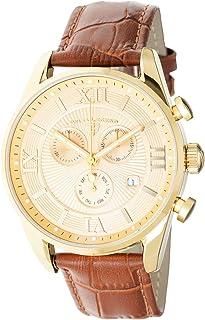 Swiss Legend Men's Belleza Analog Swiss Quartz Watch Gold Stainless Steel Case with Brown Leather Strap 22011-YG-010-BR