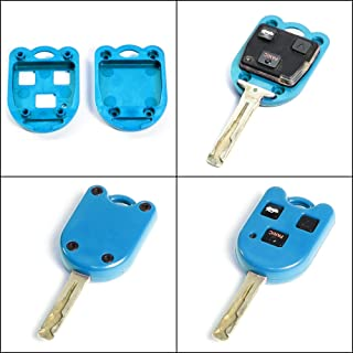 STAUBER Best Key Shell Replacement for Lexus - HYQ1512V, HYQ12BBT - NO Locksmith Required Using Your Old Key and chip! - Blue