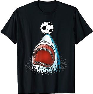 Shark Soccer Shirt, Funny Cute Animal Lover Sports Gift Boys