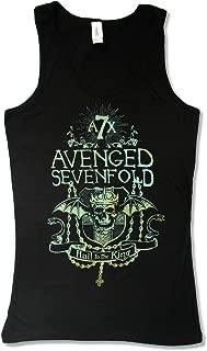 Juniors Avenged Sevenfold King Prayer Black Tank Top
