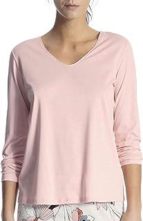 V-Neck Damen Calida Favourites Trend 1 Langarm-Shirt