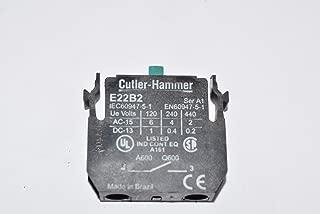 1- Eaton Cutler-Hammer E22B2 Contact Block 6A 110/120V