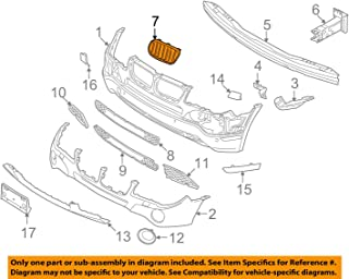 BMW Genuine Grill / Grille, front, left for X3 3.0i X3 3.0si