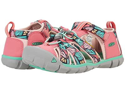 KEEN Kids Seacamp II CNX (Little Kid/Big Kid) (Tea Rose/Peach Pearl) Girls Shoes
