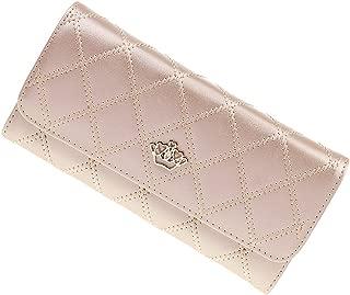Baoblaze Fashion Ladies Leather Style Envelope Clutch Bag Purse Champagne