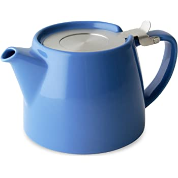 FORLIFE Stump Teapot with SLS Lid and Infuser, 18-Ounce, Blue