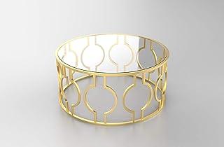 Mesa redonda mesas de centro mesa comedor cristal mesas de cocina o mesa salon mueble con base de latón muy elegante y ...