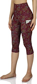 Women's High-Rise Pattern Leggings Full-Length Yoga Pants & Yoga Capris with Out Pockets