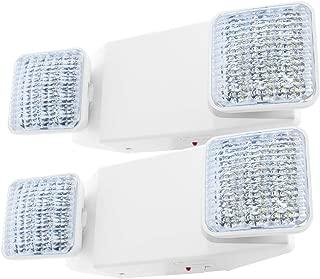 LFI Lights - 2 Pack - UL Certified - Hardwired LED Emergency Light Standard - ELW2x2
