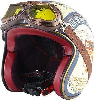 Suchergebnis Auf Für Retro Helm Halbhelme Helme Auto Motorrad
