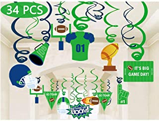 Football Sport Game Day Hanging Swirl Party Supplies Decorations (34 Piece)