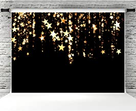 Gold Stars Backdrops for Photographers 7x5ft Vinyl Flashing Galaxy Photo Background Studio Props Baby Birthday Party Banner