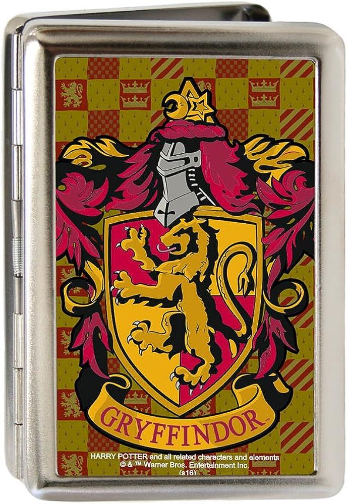 Buckle-Down Metal Wallet-Harry Potter Gryffindor Crest Fcg Gold/burgun
