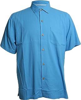 Catalina Twill Stretch Silk Blend Camp Shirt