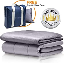 Snuggle Pro Premium Adult Weighted Blanket & All Season Reversible Cover - 15 lbs Heavy Blanket for Sleeping, 60