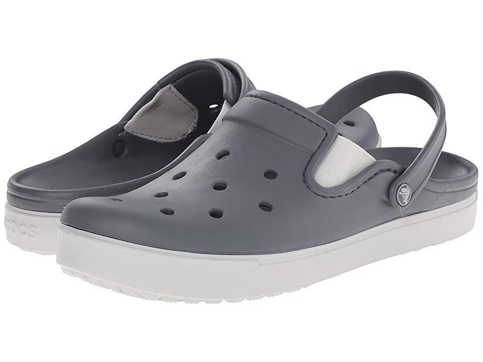 Crocs CitiLane Clog (Charcoal/Pearl White) Clog Shoes