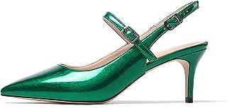 Mettesally - Scarpe con Cinturino alla Caviglia Donna - Tacchi a Spillo da Donna - Sandali a Punta - Scarpe col Tacco 65mm
