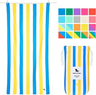 Compact Towel for Beach Tote - Sandy Toes, Large (160x80cm, 63x31) - Quick Dry Towel for Backpacking Gear and Beach Accessories