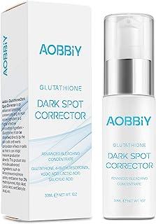 اصلاح کننده نقطه تاریک AOBBIY گلوتاتیون ، با ماده موثر آنتی اکسیدانی گلوتاتیون (مستقیماً در سلول ها) ، 4-بوتیل رورسینول (بهتر از 2٪ هیدروکینون) ، پاک کننده لکه تاریک برای صورت