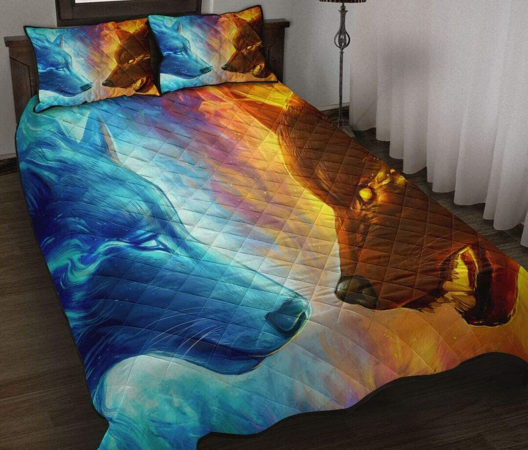 Personalized Low price Wolf Quilt Gift 40% OFF Cheap Sale for Birthday Your Lovers Boy