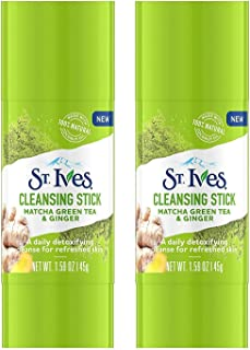 St. Ives Detox Me Daily Cleansing Stick, Matcha Green Tea & Ginger 1.6 Ounce (Pack of 2)