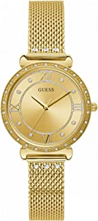 Guess watches ladies jewel Womens Analog Quartz Watch with Stainless Steel bracelet W1289L2