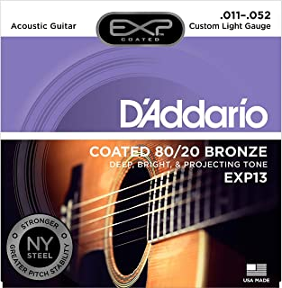 D'Addario EXP13 with NY Steel 80/20 Bronze Acoustic...