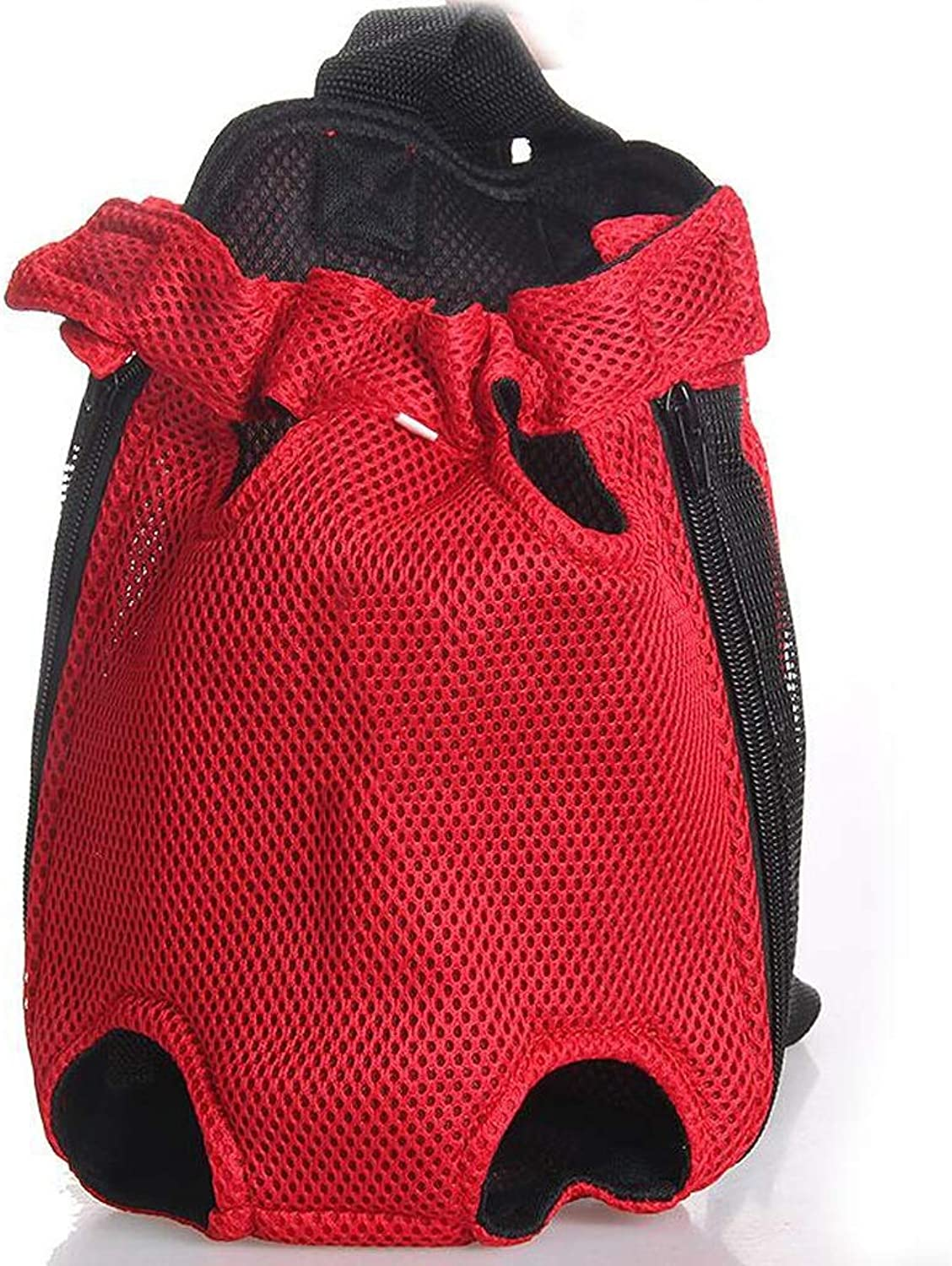 FJH Pet Chest Pack Dog Travel Out Portable Shoulder Bag Teddy Dog Cat Small Dog Universal Breathable Backpack (color   Red)