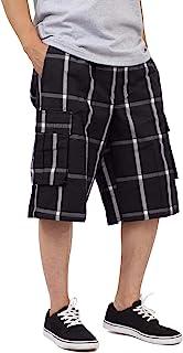 Shaka Wear Men's Relaxed Fit Plaid Cargo Shorts S~5XL