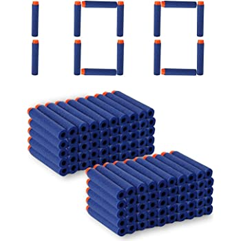 SYGA Plastic Foam Toy Bullet Dart Bullets for Nerf N-Strike Elite Guns, 100-Pieces, Blue