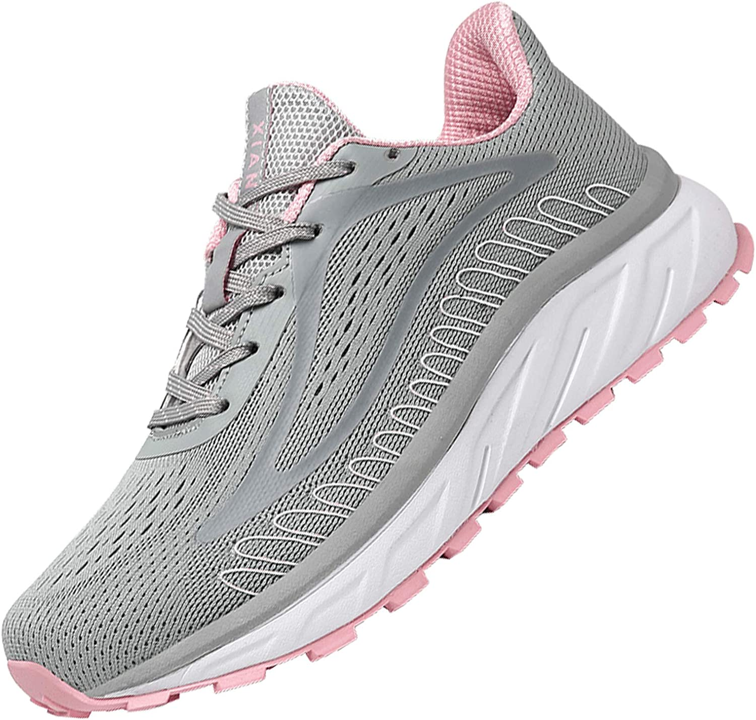 XIANV Women Men Running Shoes Breathable Slip On Sneakers Mesh Sport Athletic Fashion Tennis Comfort Fitness Walking Shoes