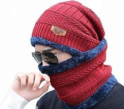 Alexvyan 1 Set Snow Proof (Inside Fur) Unisex Woolen Beanie Cap with Scarf for Men Women Girl Boy Warm and Soft-2020