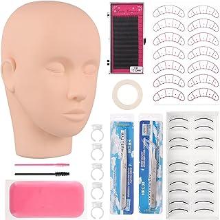 FRCOLOR Wimper Extension Praktijk Kit Training Mannequin Hoofd Voor Wimper Extention En Make Practise Voor Make- Up