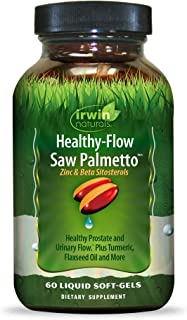 Irwin Naturals Healthy Flow Saw Palmetto with Zinc, Beta Sitosterols, Turmeric, Stinging Nettle & Pumpkin Seed - Promotes ...