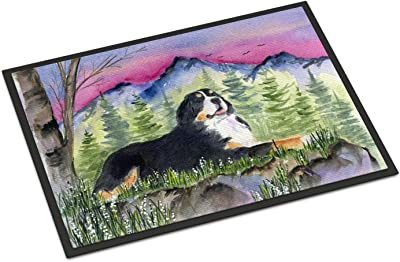 "Caroline's Treasures SS8332JMAT Bernese Mountain Dog Indoor or Outdoor Doormat, 24"" x 36"", Multicolor"