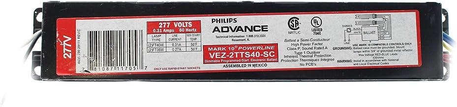 FT40W Advance VEZ-2TTS40-SC Dimmable Ballast 40W FT Twin 2-Lamp 277V