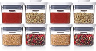 Good Grips 8-Piece 0.2 Qt Mini POP Container Set for Dried Herbs, Spices and More