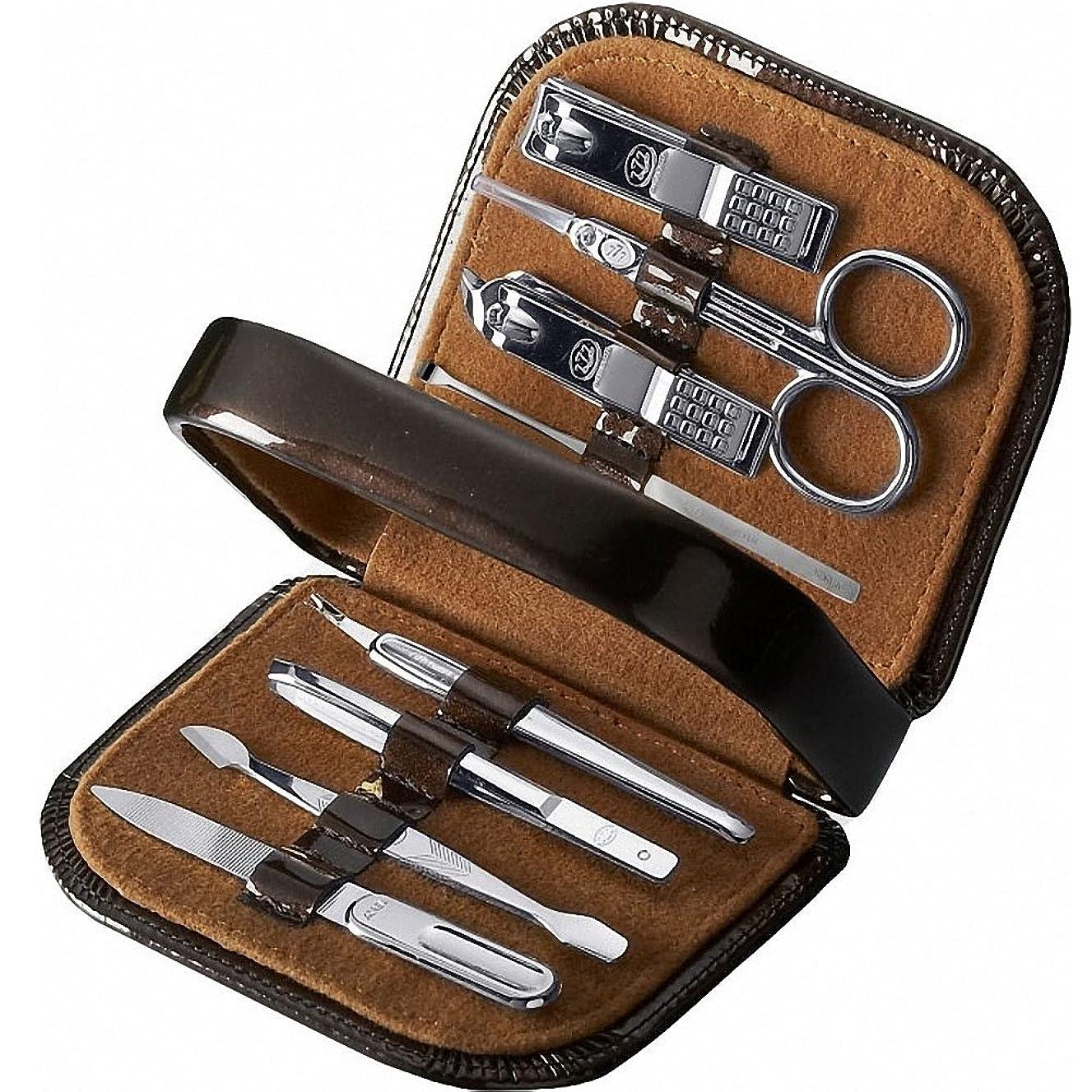 作業維持健康的【 三セブン】THREE SEVEN TS-8300C Manicure Set in Pouch Style Case 三セブンTS-8300C、ポーチスタイルボックスのマニキュアセット [並行輸入品]