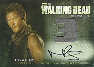 2014 AMC The Walking Dead NORMAN REEDUS Autograph Auto Wardrobe as Daryl Dixon *SP*
