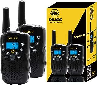 Walkie Talkies for Kids, 22 Channels FRS/GMRS Uhf Two Way Radios 4 Mile Handheld Mini Kids Walkie Talkies for Kids Best Gifts Kids Toys Built in Flashlight 2 Pack- Black